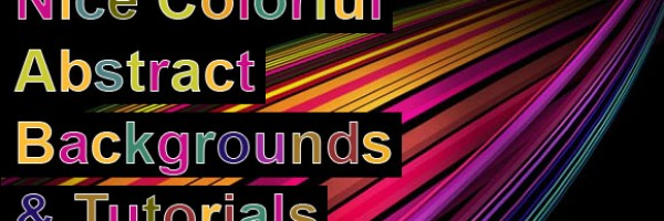 40 Nice Colorful Abstract Backgrounds and Tutorials Round up