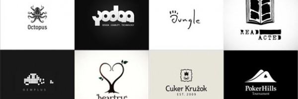 40+ Inspirational Black and White Logos